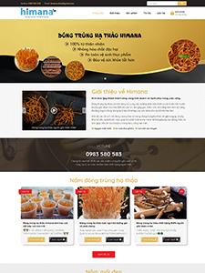Website giới thiệu sản phẩm – Himana