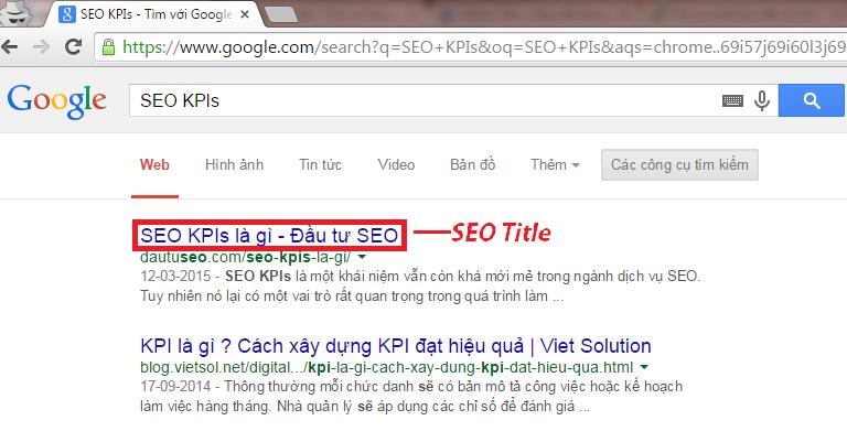 Có thể tùy chỉnh title trong khi thực hiện tối ưu hóa website của bạn
