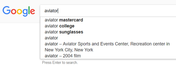 """Tìm kiếm qua tính năng """"Searches related to"""""""