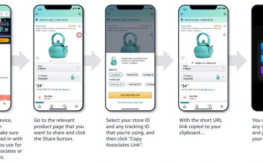Amazon Mobile GetLink chia sẻ liên kết tiếp thị trên mạng xã hội