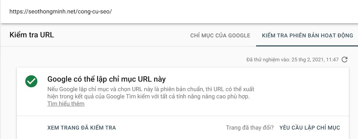 Khắc phục tình trạng noindex của URL