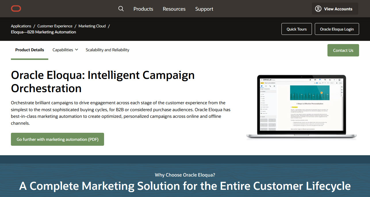 Eloqua - Tool Marketing Online auto